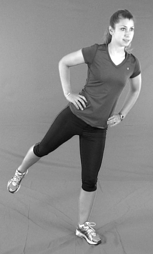 One leg balance test