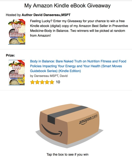 AmazonGiveawayBodyinBalanceBook